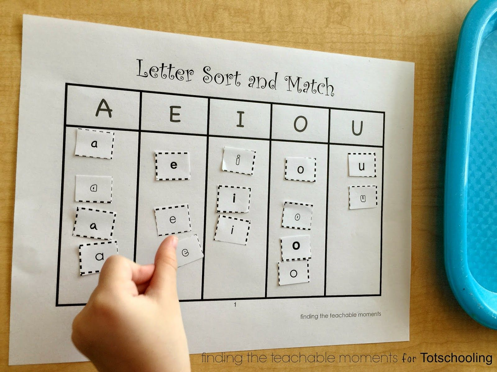 Upper and Lowercase Letter Sort Match