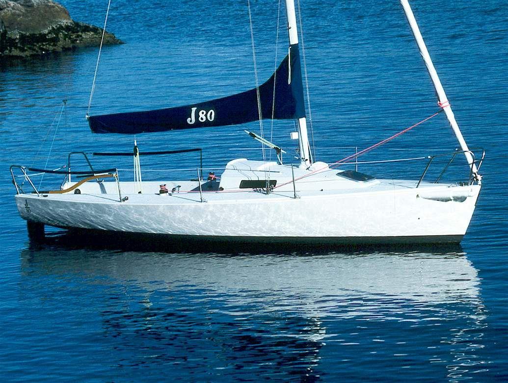 The J80...handlng..style in 26 feet...fun to sail down