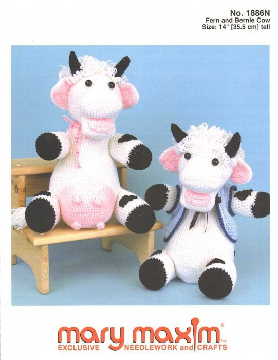 Fern And Bernie Cow Pattern   Knitted animals   Pinterest