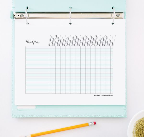 Printable workflow chart and tips for keeping up with multiple projects! | Elle & Company