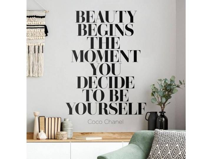 Photo of Bilderwelten Wall Decal »Be yourself Coco Chanel«, colored, brown