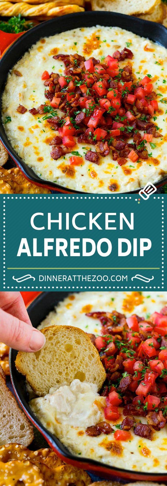 Chicken Alfredo Dip #chickenalfredo