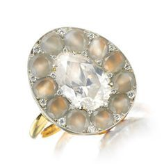 A Diamond and Agate Ring by SABBA