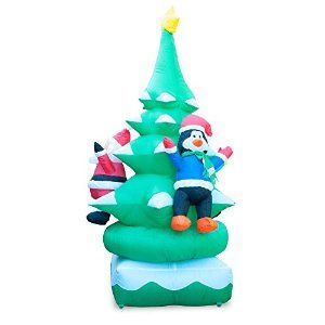 amazoncom holidayana 6ft animated spinning christmas tree inflatable lawn decoration patio - Christmas Lawn Decorations Amazon