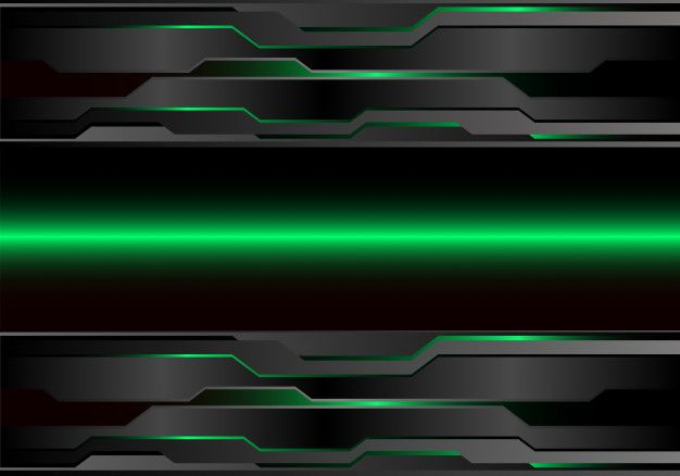 Abstract Green Light Metal Dark Futuristic Background. in ...