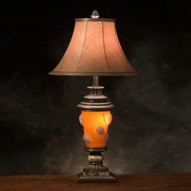 Pine Cone Glow Table Lamp Antler Lights Lamp Rustic Chandelier
