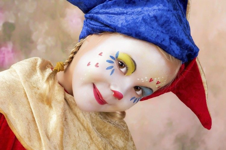 Pin Von Maria Rodriguez Auf Payasa Clown Schminken Kind Madchen