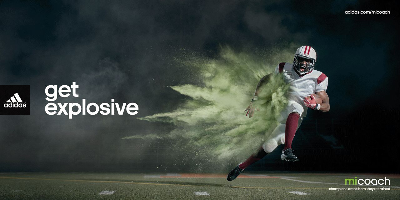 Slogan The Catchphrase Get Explosive Shows That The Adidas Product Is Powerful And Effective