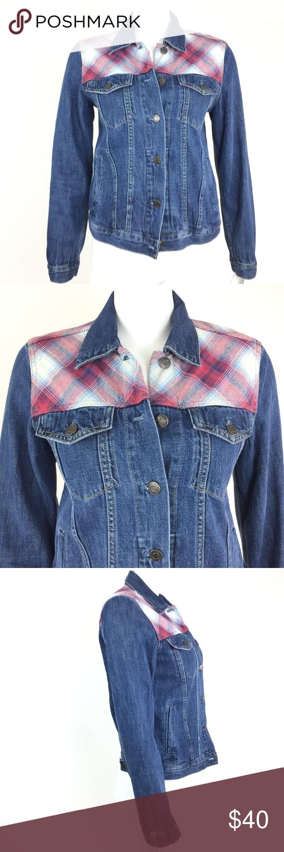 Gap Pendleton Denim Jacket Denim Jacket Jackets Jackets For Women [ 1740 x 580 Pixel ]