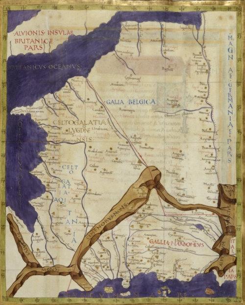 Carte De France De Ptolemee Carte De La Gaule Carte De France Histoire Ancienne