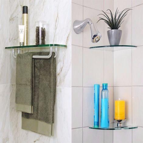 Bathroom Glass Shelves To Enhance Your House Floating Shelves