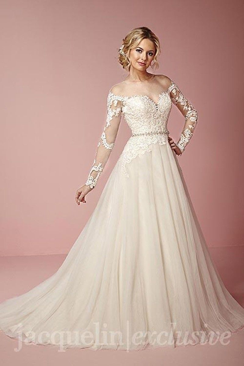 jacquelin/exclusive 19049. Available @ Low's Bridal. | wedding ...