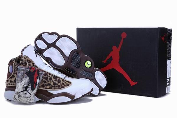 sports shoes 28eaf 2912a Cheetah Print Air Jordan 13 Leopard Coffee White