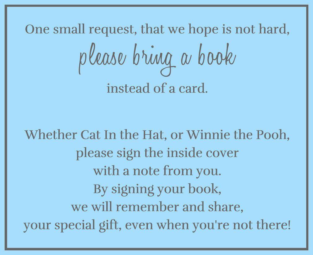 True Blue Bring a Book Insert | Babies, Teddy bear baby shower and ...