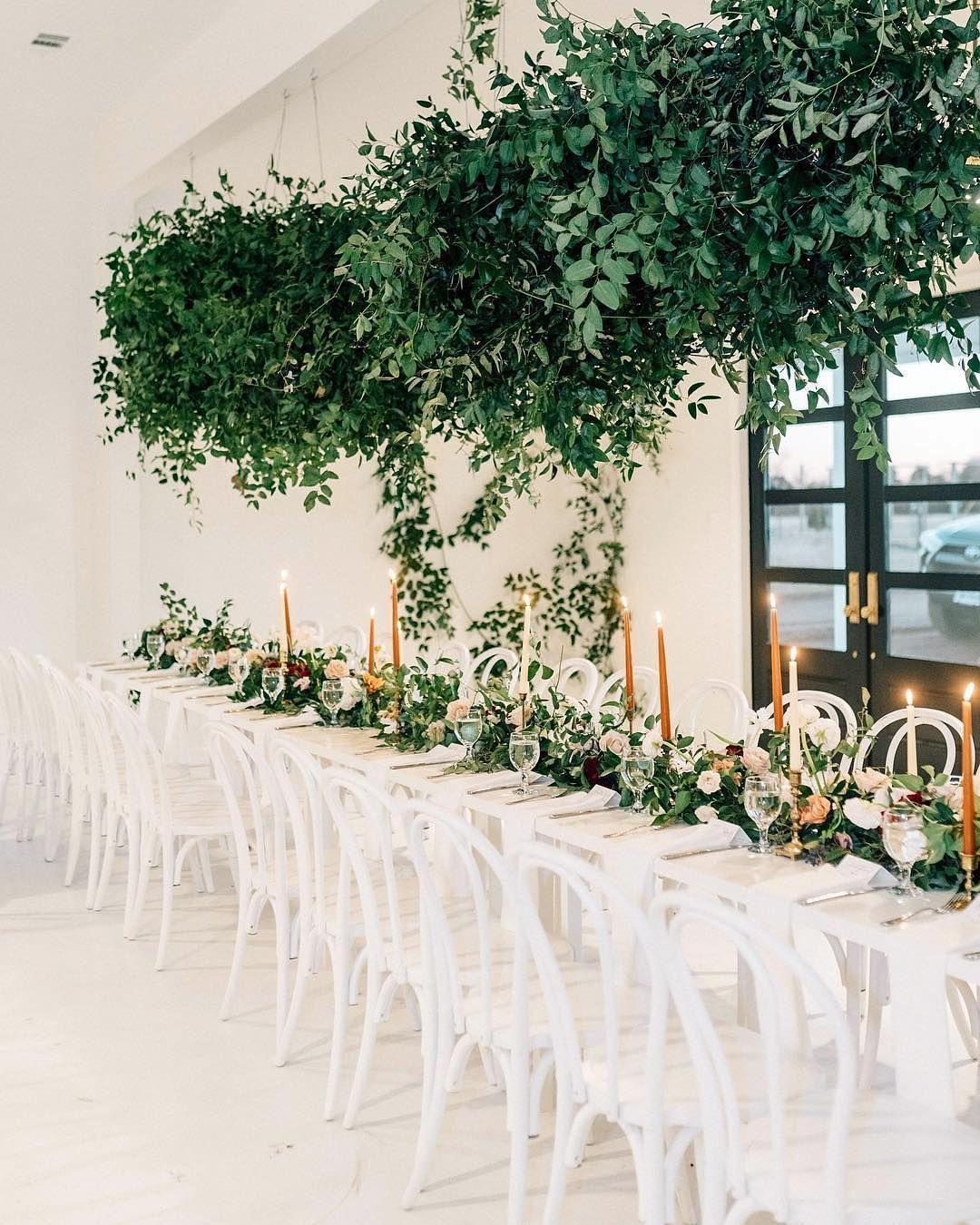 New Modern Minimal Wedding Venue In Dallas Fort Worth Hanging Flowers Wedding White Wedding Ceremony Wedding