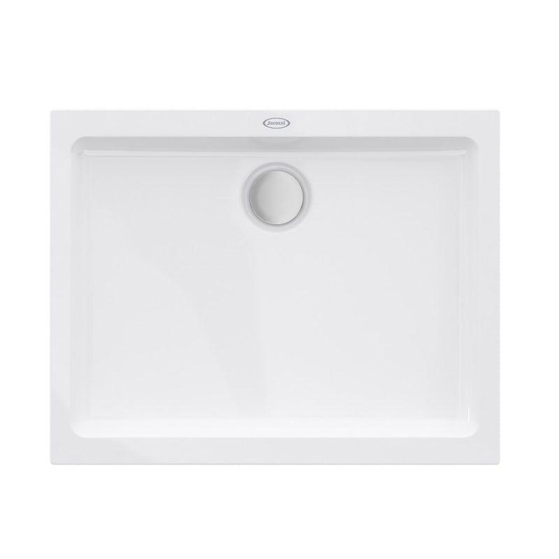 Jacuzzi Essentials Matt White Acrylic Shower Tray Shower Tray