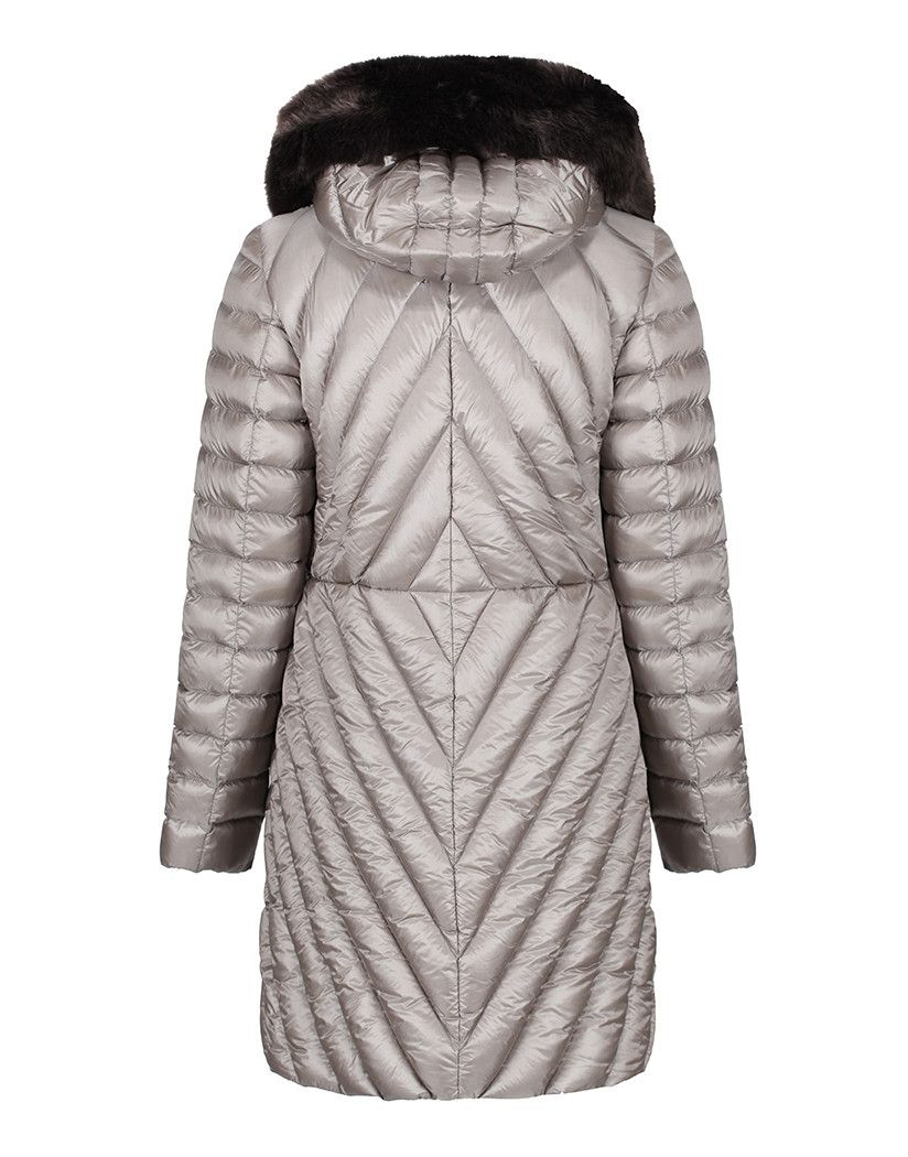 e8f14b2f3 Creenstone Women's 3/4 Length Fitted Jacket with Faux Fur Trim ...