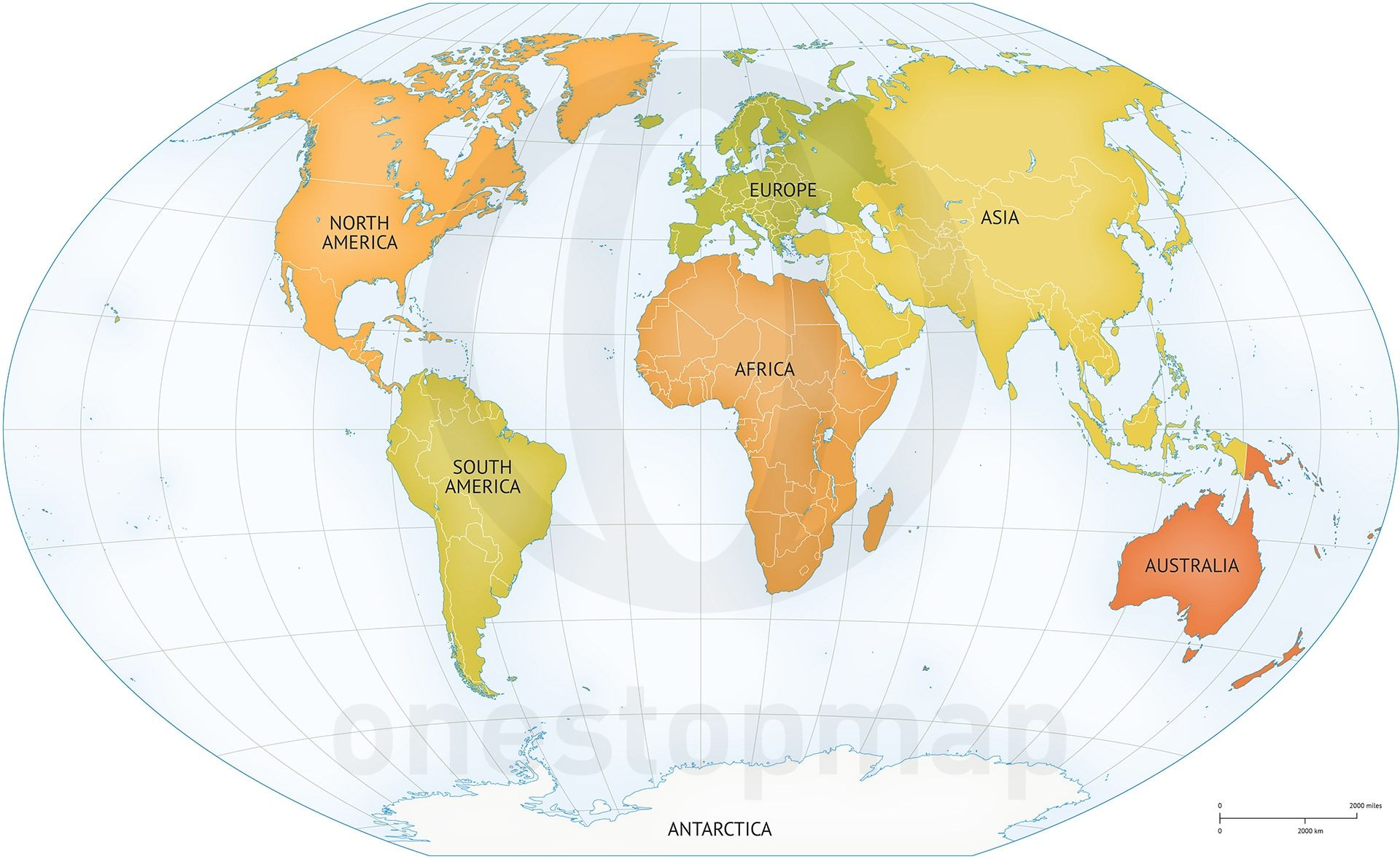 Vector map of world continents political gumiabroncs Image collections