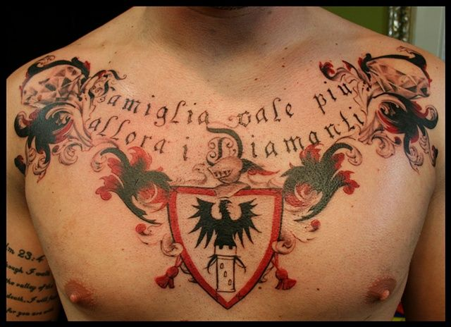 Coat of arms tattoo back google search cool tats for Pacific beach tattoo shops