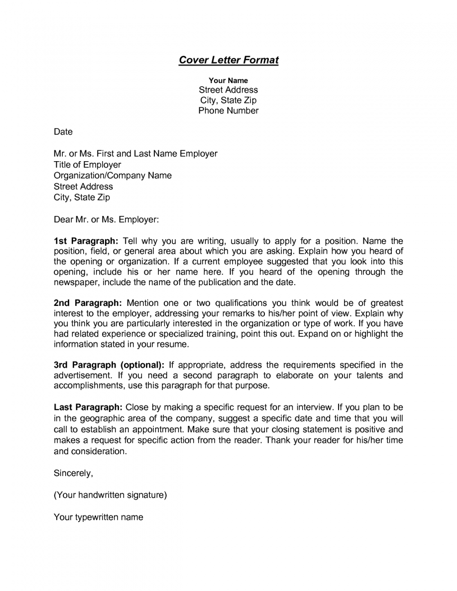 Cover Letter Address For Company Sample Without Format Creating Executive Samples