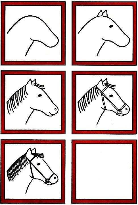 Simple horse step by step | Easy drawings, Drawing lessons ...