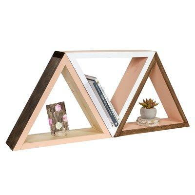 Walnut Hollow Triangle Shelf This Modern Pine Shelf Is A Beautiful Addition To A Gallery Wall Or A Tablet Inspirational Wall Decor Diy Shelves Triangle Shelf