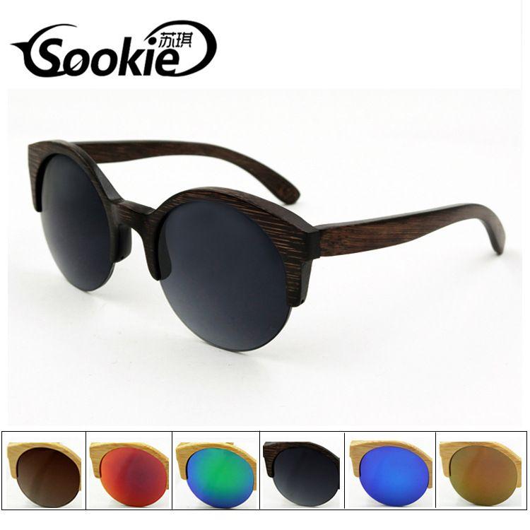 (Buy here: http://appdeal.ru/18uq ) 2016 men women newe fashion brand bamboo wood sunglasses 100% polarized UV400 retro round sun glasses lunette soleil 3025 gafas for just US $37.98