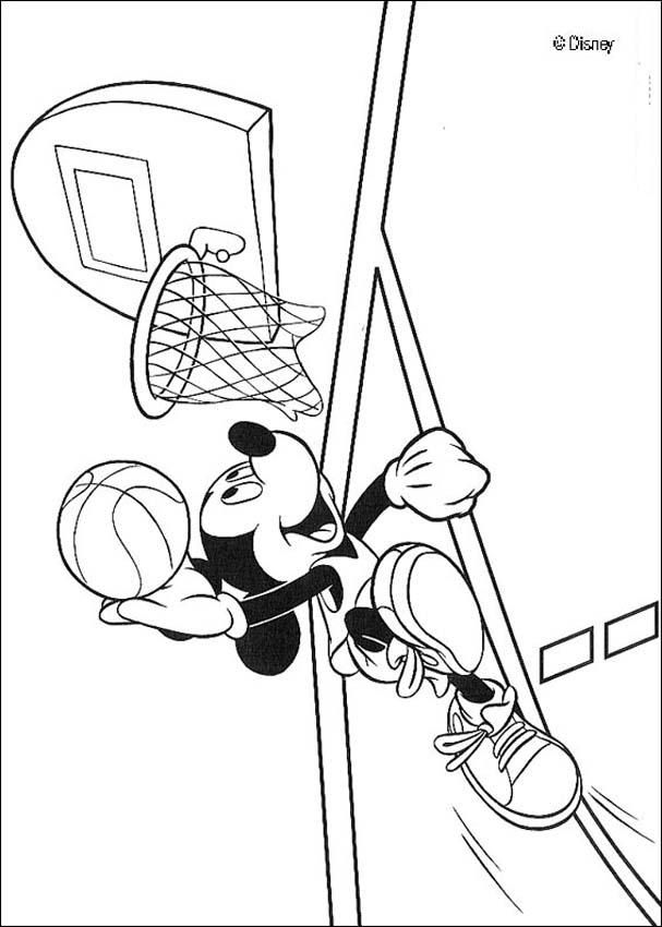 Mickey Mouse Coloring Pages Mickey Mouse Is Playing Basketball Mickey Mouse Coloring Pages Mickey Coloring Pages Coloring Pages