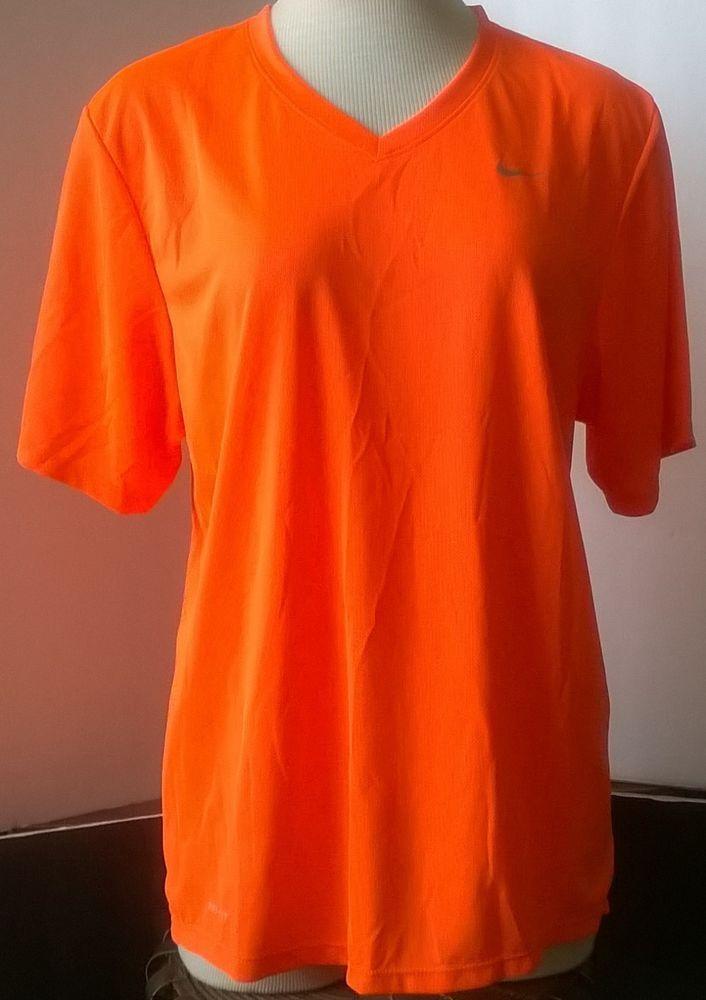 cd1952cbf7 Nike Dri-Fit V-Neck Men s Training Shirt - Bright Orange Size S - 100%  Recycled  Nike  ShirtsTops