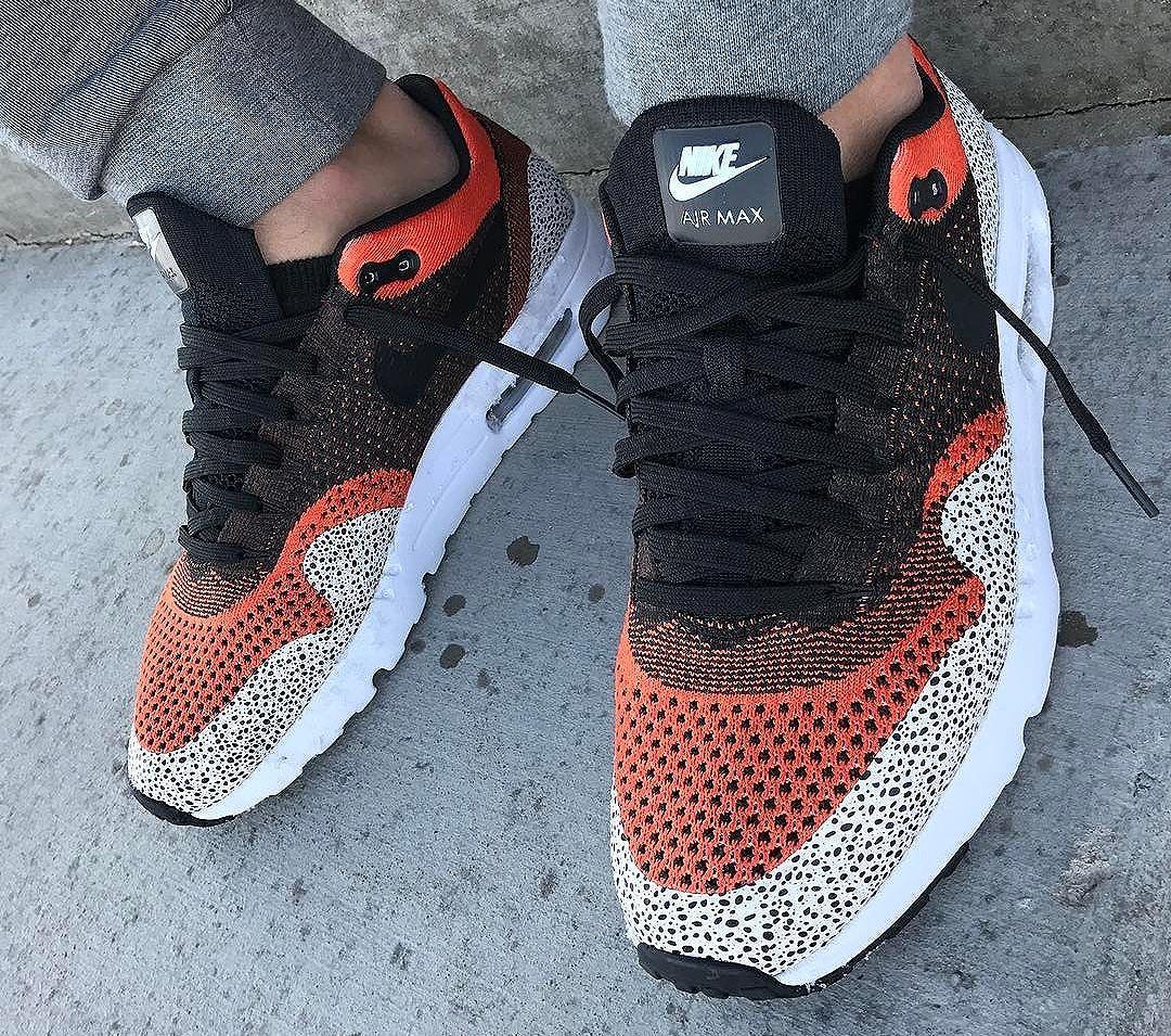 online store 00387 e58ae Nike Air Max 1 Ultra Flyknit ID Safari (2017) | Nike air max en 2019 ...