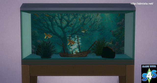 Simista a little sims 4 blog ♥: fish tank | sims 4, sims 4 blog.