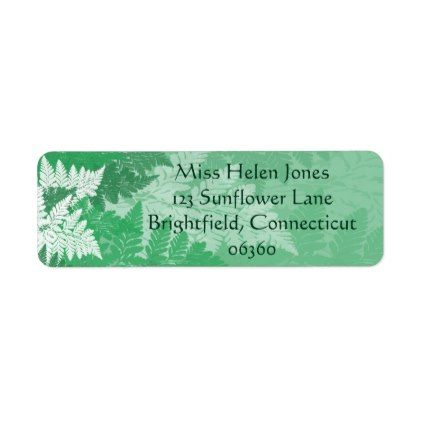 Fern Grove Label Fern and Return address