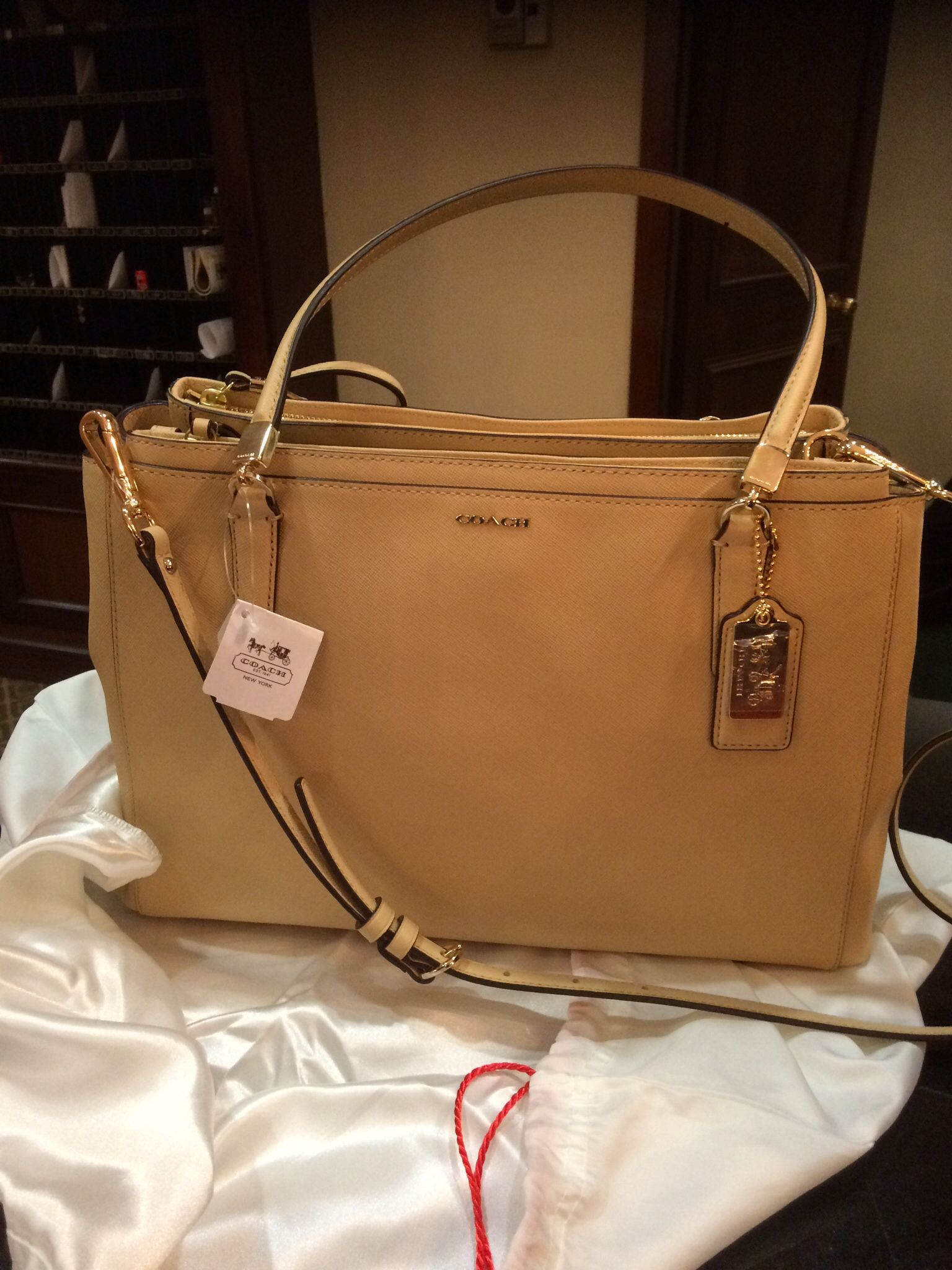 44f9a437e4e78 ... My favorite bag of all - Coach Madison Christie Carryall ToteSatchel  Saffiano Leather in ...