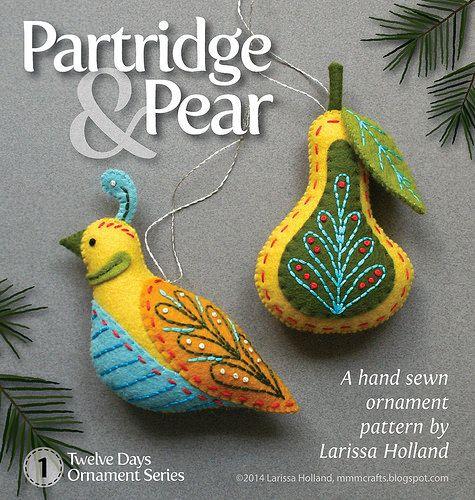 Partridge & Pear ornament pattern | christmas images | Pinterest ...