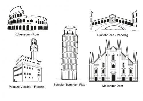 Http Www Schule Und Familie De Assets Images Malen Urlaub Th7 Sehenswuerdigkeiten Italien Jpg Ausmalen Ausmalbilder Bilder