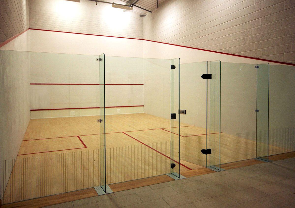 Squash court capstone high facilities pinterest for Badminton court ceiling height