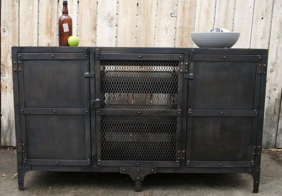 Amazing Handmade Industrial Metal Media Cabinet TV Console TV By JReal Nice Ideas