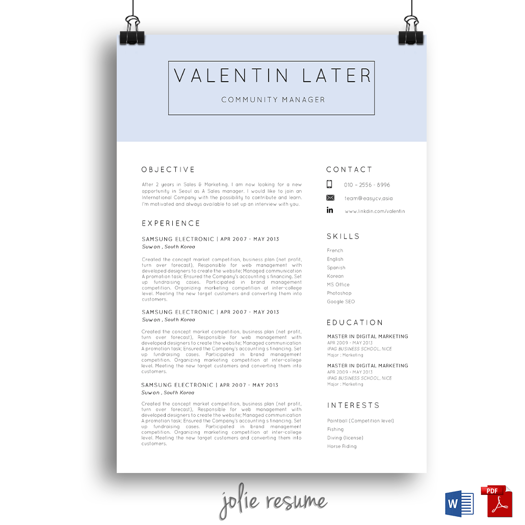 resume template valentin ms word easy to edit instant enjoy my korean friend resume template cheap and easy to edit
