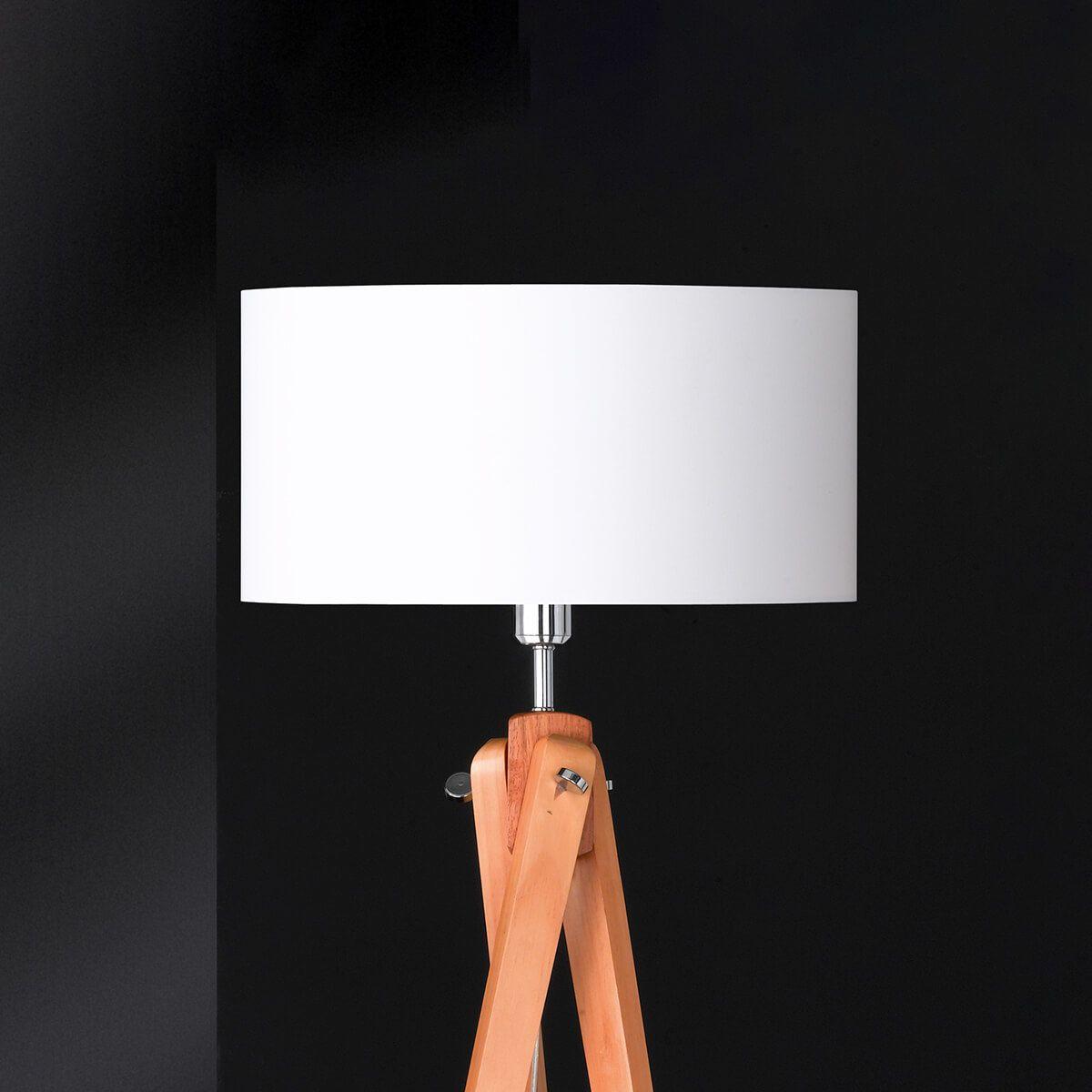 Dreibeinige Stehleuchte holz stehleuchte | stehlampe mit holz stehlampe holz mit leselampe