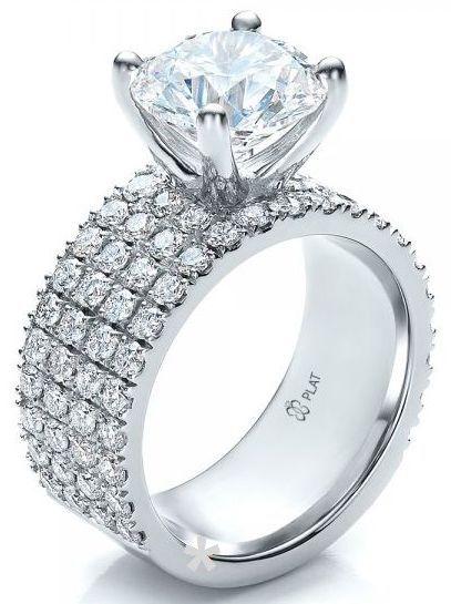 Looks Like A Pretty 25th Anniversary Ring Custom Diamond Engagement