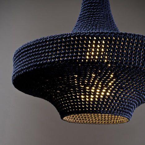 Omi pendant lights are crochet pendant lamps by dalston designer omi pendant lights are crochet pendant lamps by dalston designer naomi paul made of mercerised aloadofball Image collections