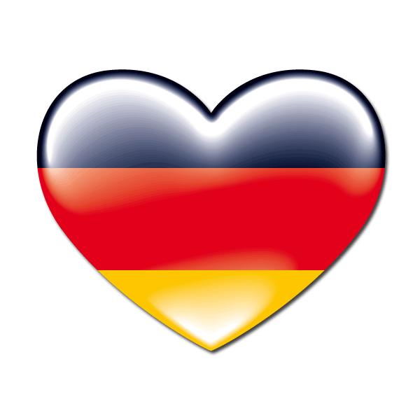 Pegatinas coraz n bandera deutschland alemania bandera - Bandiera della pagina di colorazione della germania ...