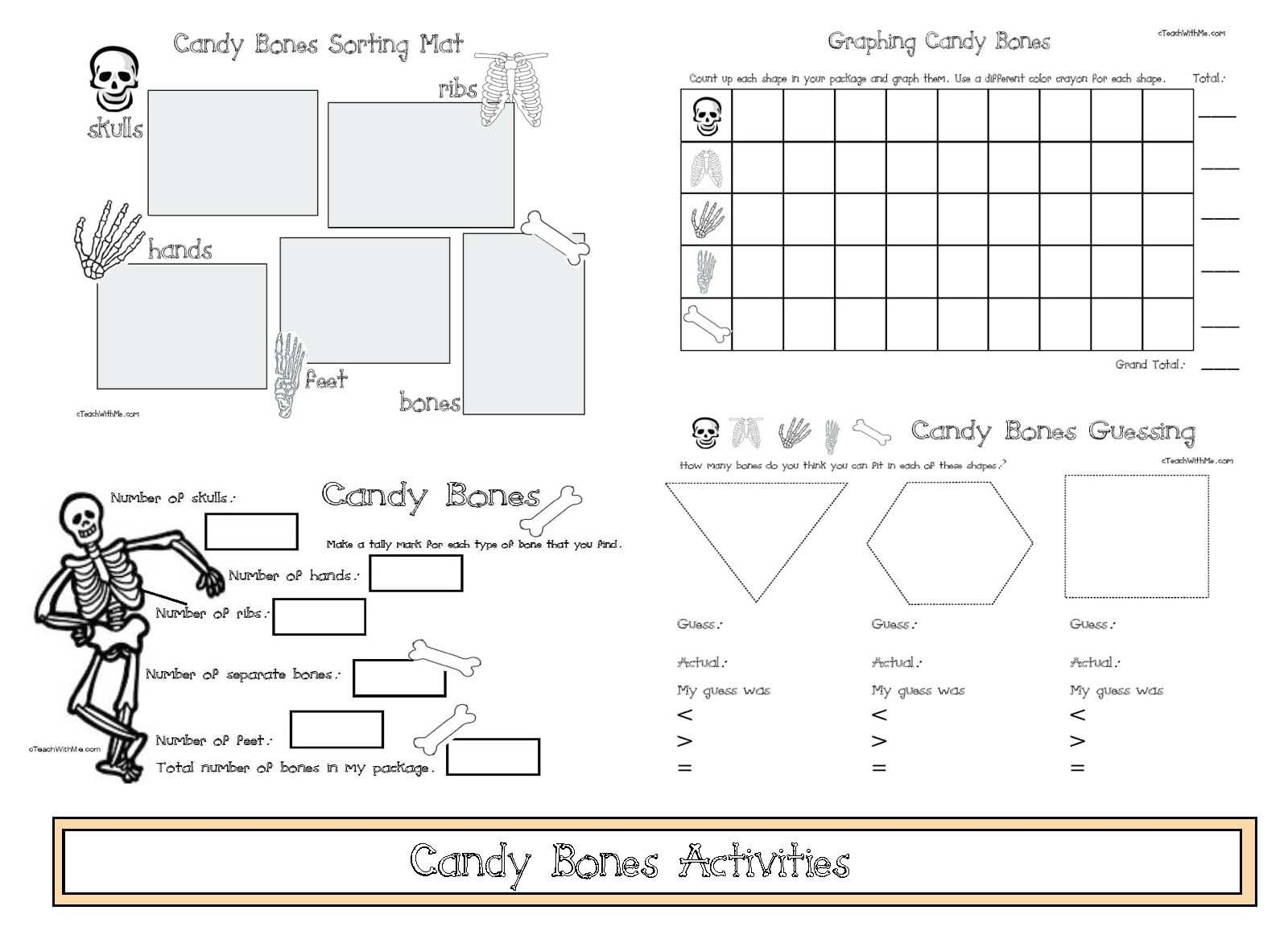Math Activities With Candy Bones
