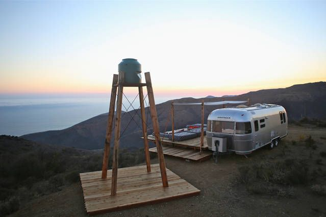 Malibu Dream Airstream Airbnb Mobile Trailer Living