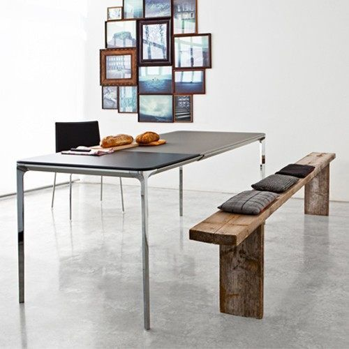This Modern Extension Table Smoothly Pulls Apart To Make Room For Gorgeous Slim Dining Room Tables Design Ideas