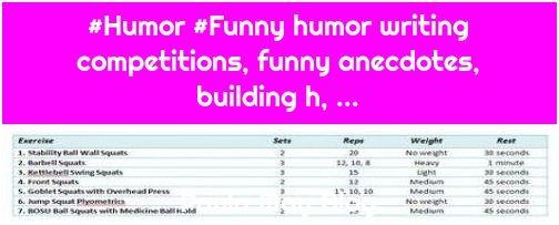 how to write a funny anecdote