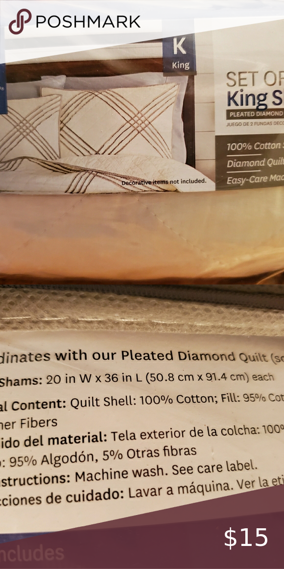 a1856a8eb5af33eb1e3a124b02c26ab4 - Better Homes And Gardens Pleated Diamond Quilt Collection