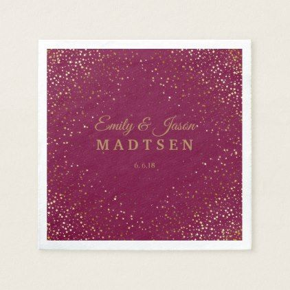 Petite Golden Stars Wedding Paper Napkins | Zazzle.com #papernapkins
