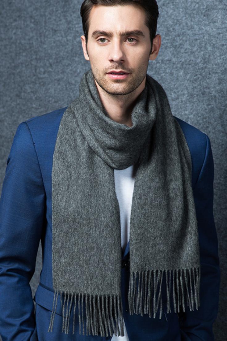 37a5e9babc3 Gift Guide | 100% Cashmere Scarf | Men's Cashmere Scarf | For Him | Ovcio