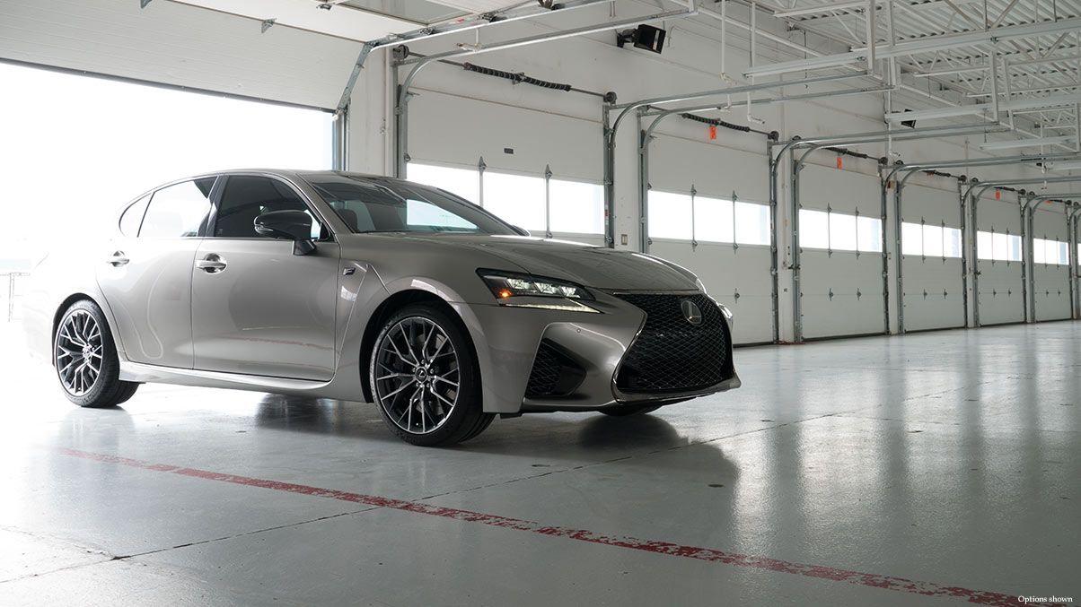 Exterior Shot Of The 2017 Lexus Gs F Shown In Atomic Silver Lexus Dealership Luxury Sedan Lexus